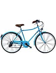 """Route 66 City Sport Vélo de ville Bleu 28 x 19.5"""" 7v"""