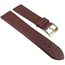 Manufacture Brown Leather Watch Band Strap Pinch/Screws Skagen/Boccia, Bering, Rolf Kremer, DD, Obaku etc 25354G Bridge Width: 12 mm