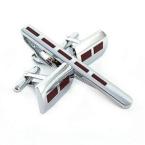 HONG-Accessories Manschettenknöpfe Krawattenklammer Set Herrenmode Shirt
