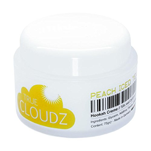 True Cloudz Peach Ice Tea Hookah Creme 75g Shisha