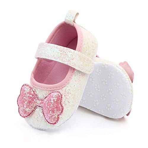 FELZ Zapatos Bebe Niña Primeros Pasos Arco Zapatos De Princesa De Suela Suave para Interiores Casual...