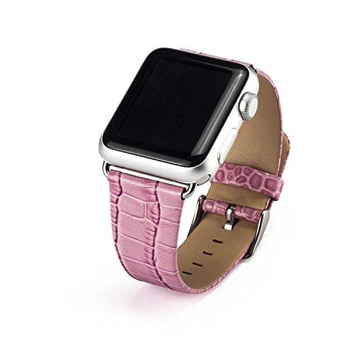 Preisvergleich Produktbild Xihuan für Apple Watch Armband,  Soft Leder Ersatz Uhrenarmbänder für 42mm iWatch Serie 3 / Serie 2 / Serie 1-Rosa