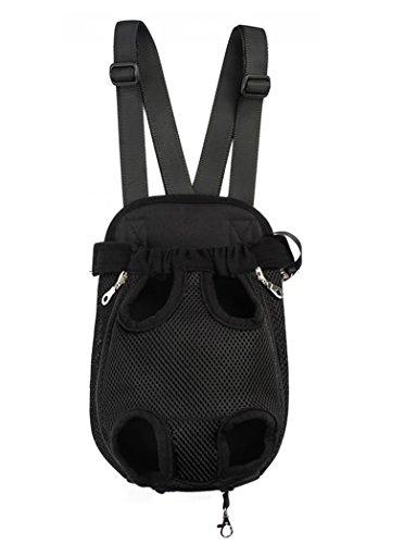 MerryBIY Pet Carrier hundetasche Träger Bag Haustier Transporttasche Brust Backpack Reise Tragbar Puppy Atmungsaktive Durable-Beine heraus Bag Haustier Hunde Katzen Tragetasche (XL, Black)