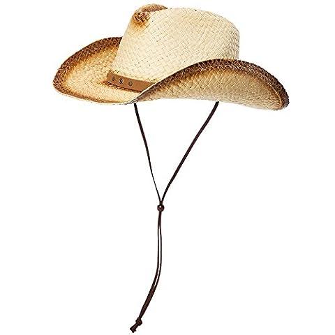 SIGGI unisex Cowboy Hüte Strohhut Formbare Krempe mit Kinnriemen