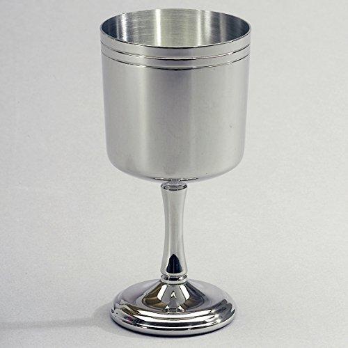 Edelstahl Trinkkelch Weißweinglas 18/8, 200 ml Camping Zubehör Weinglas Trinkbecher Kelch Becher...