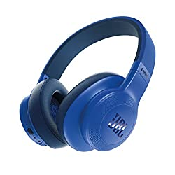 JBL E55BT Wireless Over-Ear Headphones (Blue)