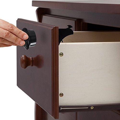 novaato magnetisches schrankschloss 4x schl sser als unsichtbare kindersicherung f r schr nke. Black Bedroom Furniture Sets. Home Design Ideas
