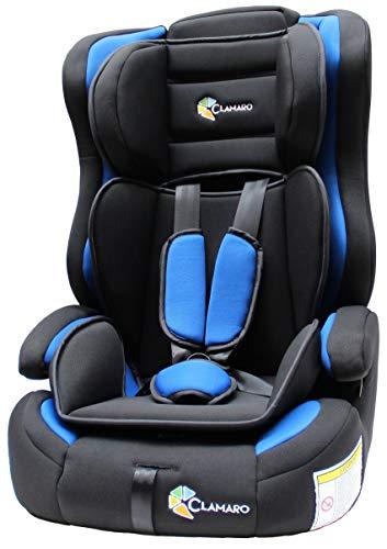 Clamaro \'Guardian FLEX\' 2in1 Isofix Kinderautositz 9-36 kg, Umbau zur einfachen Sitzerhöhung möglich, Auto Kindersitz für Kinder von 1-12 Jahre, Gruppe 1/2/3, ECE R44/04, Farbe: Blau/Schwarz