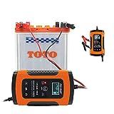 GreenRibbon 12V 6A Chargeur de Batterie Intelligent et Mainteneur pour Voiture et...