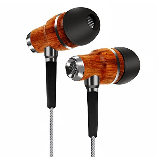 TAGG Symphony X-150 In-Ear Headphones with Mic || Earphones Handcrafted with Genuine Wood