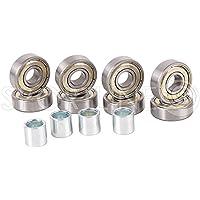 Roulements ABEC 7carbon de Ball Bearings Inline 8prises ST + 4St. huzz