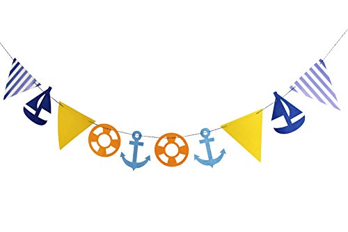 SUNBEAUTY Maritim Girlande String maritime Dekoration Kinderzimmer Deko Nordsee (Garland)