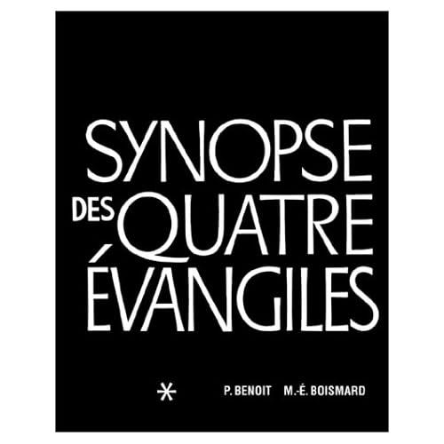 Synopse des quatre évangiles, tome 1
