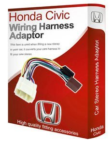 Honda Civic CD radio stereo adapter, Kabelbaum loom ISO Kabel Konverter - Honda Harness Kabel Y