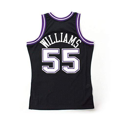 CCKWX Herren-Basketballtrikot - Kings # 55 Jason Williams Vintage Jersey, Swingman Edition Klassisches, Ärmelloses Unisex-T-Shirt,XL:185cm/85~95kg -