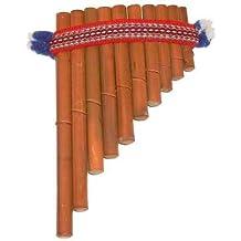 Zampona, Flauta de pan, Flautas de bambú marrón, 16 x 10 cm