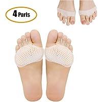 metatarso, avampiede Pad per tacchi traspirante all' avampiede cuscini 8pz cuscinetti in gel traspirante neuroma Pads piede sollievo dal dolore uomini e donne