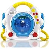 X4-Tech Bobby Joey Kinder - Reproductor de CD con función de Karaoke y micrófono