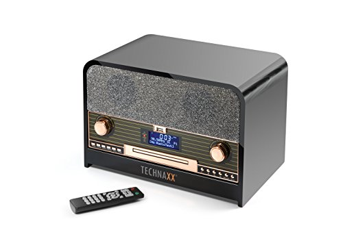 Technaxx TX-102 - Radio (Reloj, Digital, Dab,FM, 87,5-108 MHz, 10 W, LCD)