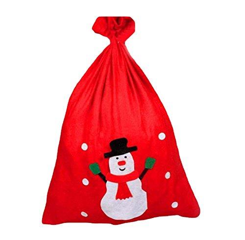 drawihi Neue kreative Paket Speicherkapazität Dekoration Weihnachten Tasche Candy Geschenktüten Weihnachten Weihnachtsmann/Schneemann vorliegenden zum Aufhängen Weihnachten Dekoration Haus Schneemann (Cestas De Regalo)