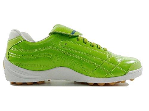 AGLA PROFESSIONAL TOP FIVE OUTDOOR scarpe calcetto in pelle con anti-shock Verde