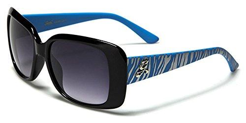 Giselle Damen Sonnenbrille Mehrfarbig BLUE/SILVER ZEBRA