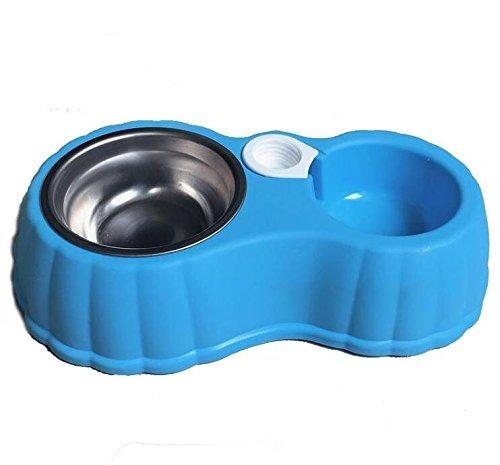 Schüssel Schüssel Hund Katze Hund Topf Topf Automatische Trinkwasser Becken Wasser Schüssel Katze Schüssel Schüssel Reis Essen Schüssel, Kürbis Schale Blau (Günstige Keramik-töpfe)