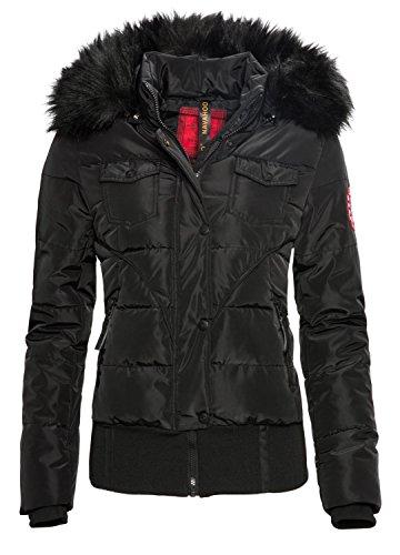 Navahoo Damen Winter Jacke Steppjacke Parka Winter Mantel warm gefüttert B313