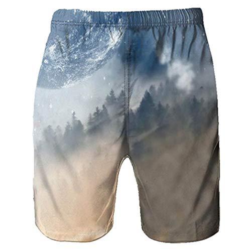 Pantaloncini da Spiaggia Uomo LandFox beach shorts casual da lavoro casual Pantaloni corti da uomo Pantaloncini Calzoncini da Bagno Estate Sport Shorts stampati 3D Graffiti lupo
