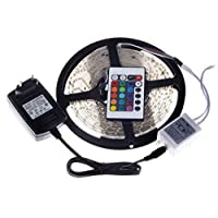 Waterproof RGB Led Strip Flexible Light 3528 5M 300 LED SMD with RGB Remote Control Blue Green Red