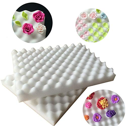 Fondant - Bakeware 2pcs Foam Drying Pads Sponge Mats Cake Fondant Sugar Flower Mold Mat Shaping Pad Gum Paste - Decor Mat Foam Pad Flower Rack Mold Mat Cake Mat 2019 Mold Toy New Pad Mould -