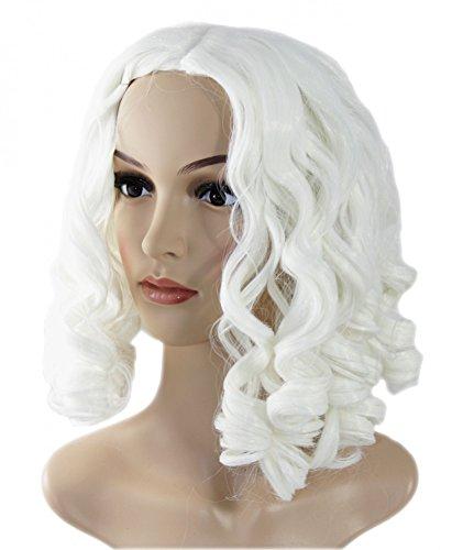 fasching kostueme damen maerchen Foxxeo 35234 | lange lockige weiß/blonde Prinzessin Fee Perücke blond für Damen Karneval Fasching Märchen