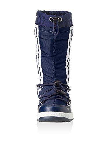 Moon Boot by Tecnica W.E. W.Fall Jr WP, Bottes d'hiver mixte enfant bleu navy