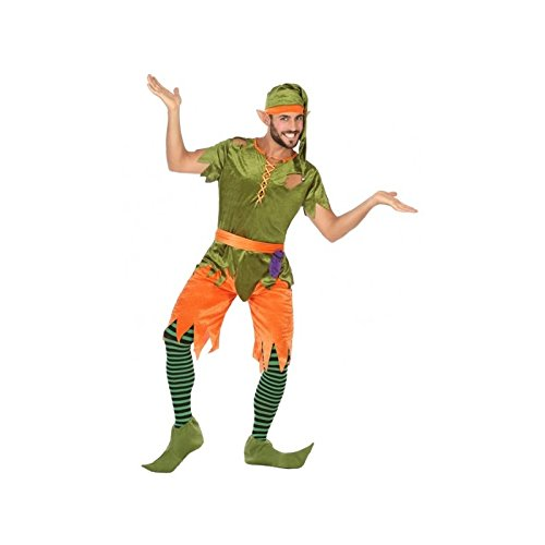 ATOSA 56492 COSTUME GOBLIN XL, Herren, Grün/Orange (Kobold Kostüm Männer)