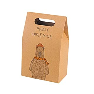 Papier-Party-Geschenktüten für Weihnachten, Party, Hochzeit, Hochzeit, Süßigkeiten, Kekse, 3 Stück 3 Pcs-Polar bear