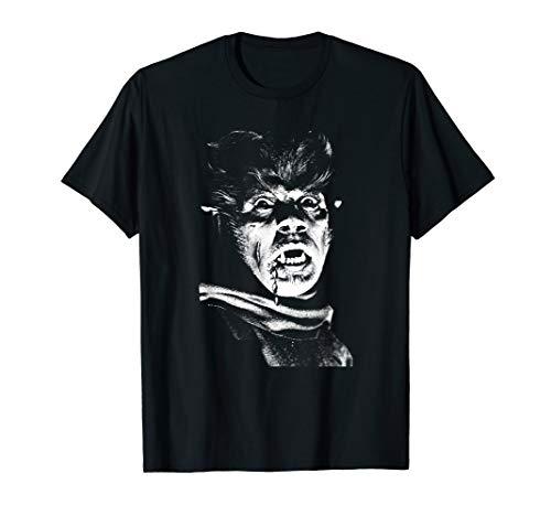 ntage Monster Horrorfilm Fan Werewolf T-Shirt ()
