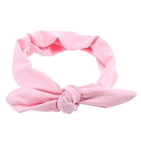 Contever® 1PC Mignon Bandeau Cheveux Élastique Turban Bain Spa Maquillage Serre Tête Femmes - Rose