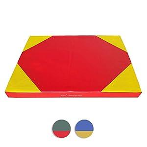 Weichbodenmattte 100 x 70 x 8 cm Rot/Gelb