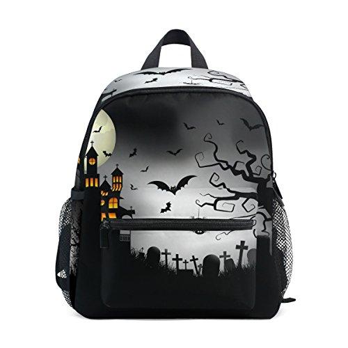 COOSUN Spooky Halloween Hintergrund Mini Kinderrucksack Pre-School Kindergarten Kleinkind-Tasche Mehrfarbig