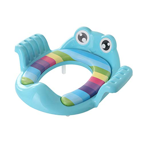 Binggong Réducteur de Toilettes Rehausseur pour Siège de WC Pliable Portable pour Bébé Enfants (Une Taille, Bleu)