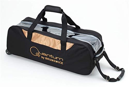 Brunswick Quantum 3 Ball Tasche schwarz/Gold (3 Bowling Ball Tasche)