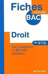 FICHES BAC DROIT TERMINALE STG (Ancienne Edition)