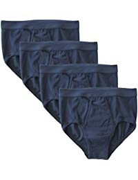 HERMKO 3240 pack of 4, men's Y-fronts fine-ribbed, made of 100% European cotton, many colours