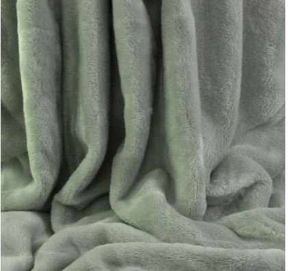 Berkshire velvetloft Polyester Decken-, Full/Queen oder King, Polyester-Mischgewebe, Tea Green, Twin - Loft Full Twin