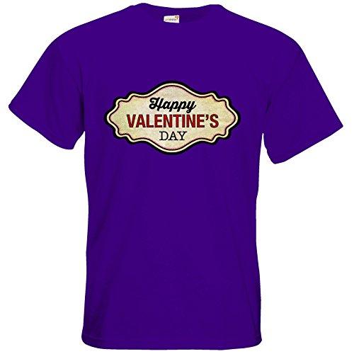 getshirts - RAHMENLOS® Geschenke - T-Shirt - Valentinstag Valentine Plakette halftone Look Purple