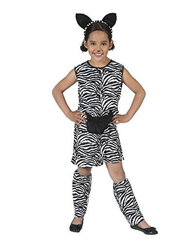 Kostüm Kleid Zebra Zaara Kind Größe 128 Kinderkostüm Mädchen Zebramuster Tierkostüm Safari Wilde Tiere Afrika Zoo Karneval Fasching (Kinder Kostüme Safari)