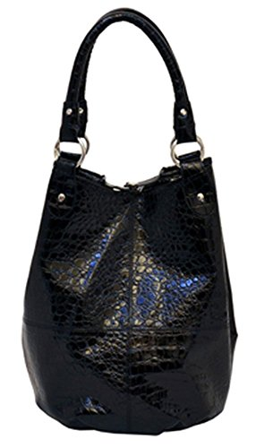 4-pc-embossed-faux-leather-tote-set-in-black