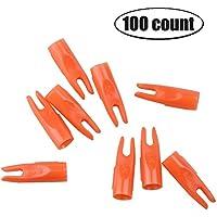 Milaem Tiro con Arco Nocks de 5/16 Pulgada Nocks de Plásticoc para Flechas y saetas de OD 7mm (Paquete de 100)