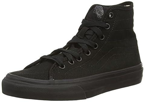 Vans U SK8-HI DECON, Unisex-Erwachsene Hohe Sneakers, Schwarz ((Canvas) black/black),
