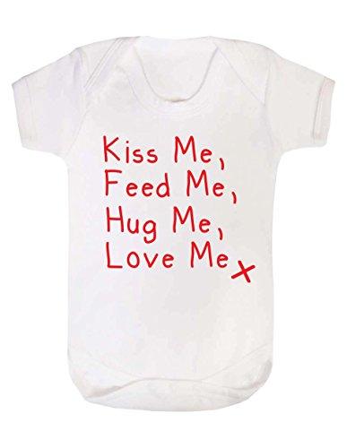 cd8e0ecdfd82e KISS ME Feed Me Hug Me Love Me completino tutina gilet divertente humour  Gift cute